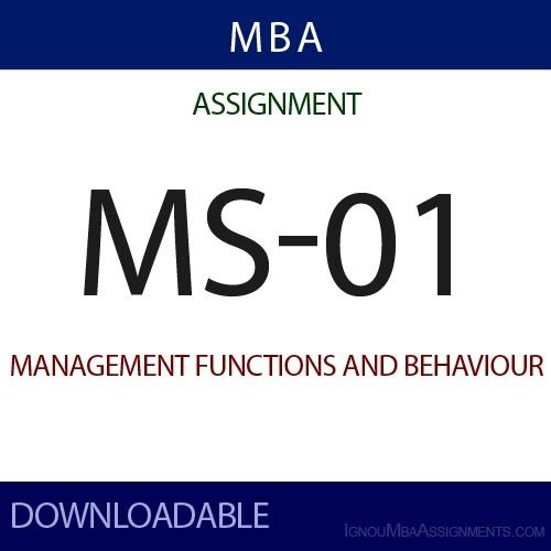 MS-01 Solved Assignment