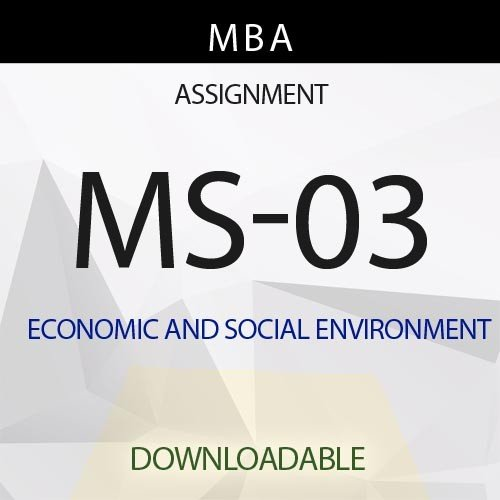 MS-03 Solved Assignment
