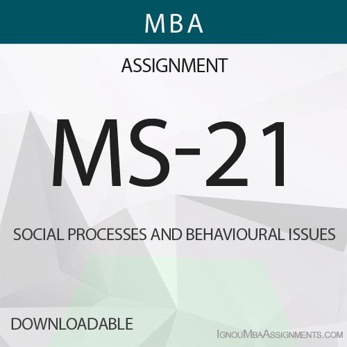MS-21 Solved Assignment