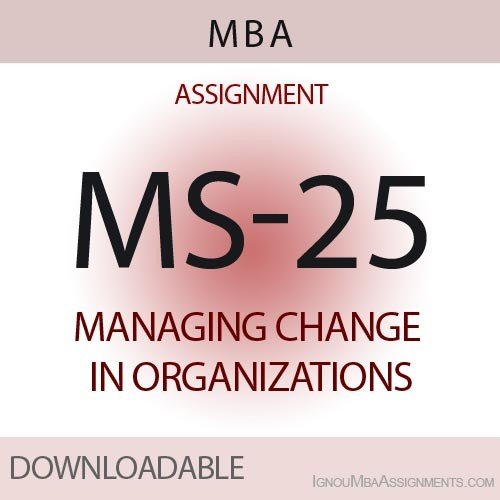 MS-25 Solved Assignment