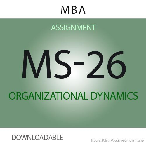 MS-26 Solved Assignment
