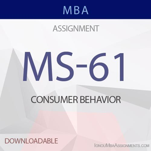 MS-61 Solved Assignment