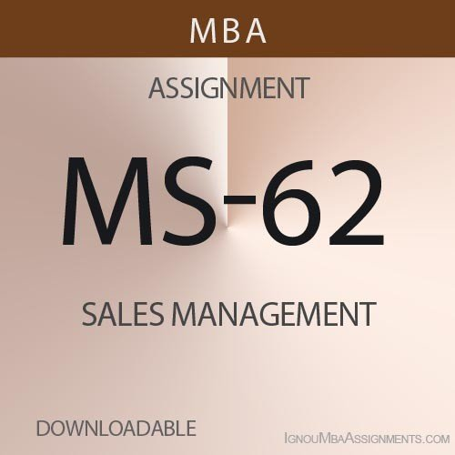 MS-62 Solved Assignment