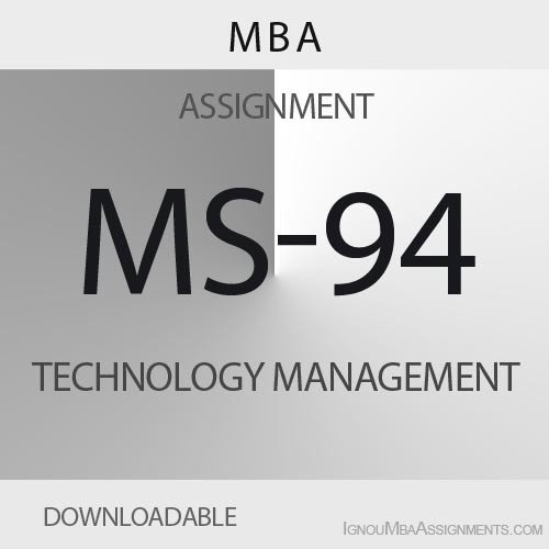 MS-94 Solved Assignment